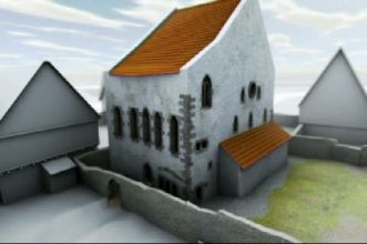 Animation of the Old Synagogue.